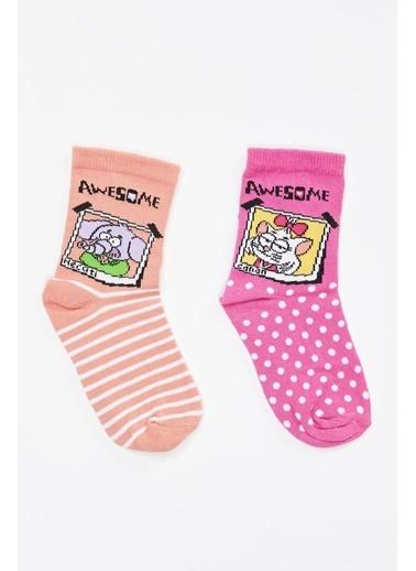 DeFacto Kral Şakir Lisanslı Soket Çorap 2'li Renkli